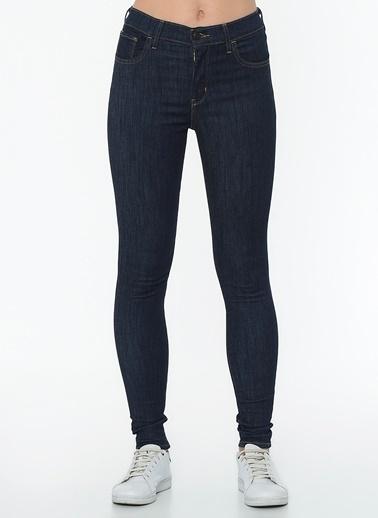 Levi's® 527970176 High Rise Süper Skinny Deep Yüksek Bel Dar Paça Pamuklu Kadın Jean Pantolon İndigo